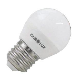 LAMPADA SUPERLED BOLINHA 4W BIV E14 2700K - OUROLUX