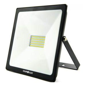 refletor slim led smd 100w - ourolux